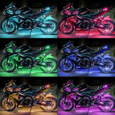 Multi-Color Motorcycle RGB LED Neon Accent Under Glow Lights 6 Pod Kit 36 LEDS