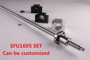 CNC Ballscrew SFU1605 L=250 - 1500MM C7 & BK/BF12 End Support & Ballnut Housing