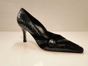Sabrina Chic Womens Black/Grey Heel Court Shoes UK 5.5 / EU 38.5 (2706 S-G 252)