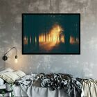 24*12in Sunset Forest Art Decor Poster Canvas Paintings Prints Home Office