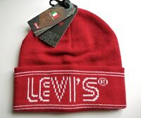 LEVI'S Dull Red Banner Cuff BEANIE Toque Hat UNISEX OSFM New Tags