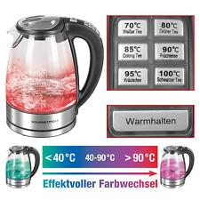 Wasserkocher Glas LED Temperaturwahl 1,7L 2000W warmhalten Teekocher kabellos ☕️