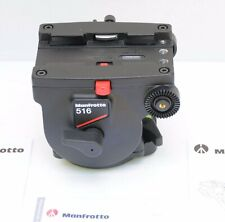 Manfrotto 516 Pro Fluid Head w/ new arms & plate 22lb Load  Never Used - Mint !!
