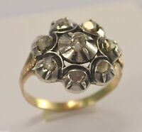 Antik Damenring mit Diamanten0.72ct.(Altschliff)/ 333er 8Karat Gold 56(17,8 mmØ*