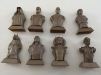 8 x Star Wars Gold Busts Statuettes From Kellogg's Cereals With Scrolls