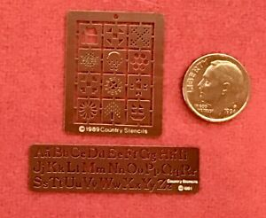 2 Stencils & Charms by Country Stencils Never Used Great for Needlework too 1:48