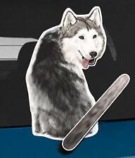 Siberian Husky dog and animal pet rear window wiper sticker 10 inches tall