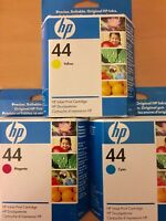 GENUINE HP HEWLETT PACKARD HP 44 INK CARTRIDGE 51644ME 51644CE 51644YE 3 PACK