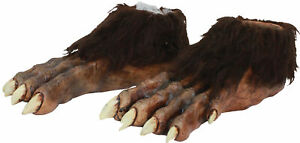 Wolf Latex Feet Deluxe Werewolf Brown Beast Halloween