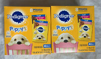 2 pack Pedigree Choice Cuts Puppy Wet Food Pouches, 3.5 oz Beef & Chicken 8 each