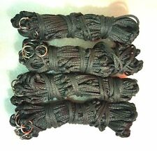 """Pack of 4 Haynets strong 12 rings 40""""large holes DARK GREEN  ON  SALE"""