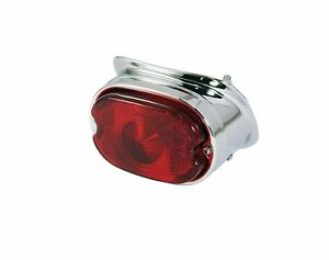 Bikeit Motorcycle/Motorbike Universal Custom Chrome Rear/Brake Light