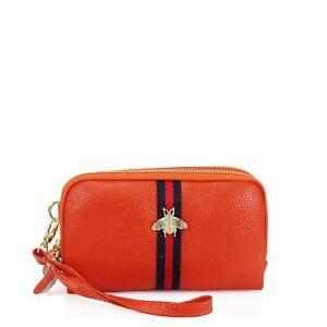 Ladies Women's Soft Leather Bee Purse Wallet Wiristlet UK