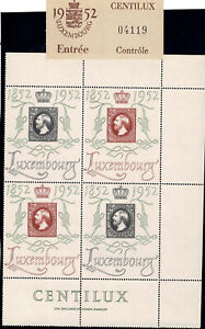 Luxemburg Luxembourg 1952 CENTILUX Satz 4er Block MNH** KW:200€