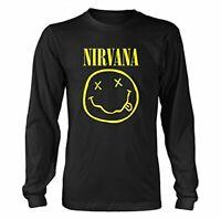 Nirvana Smiley Longsleeve Black XL