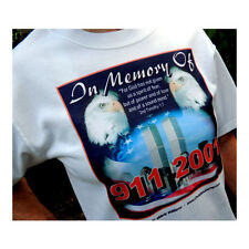 In Memory Of September 11, 2011 White Tshirt Unisex X Large Size - NICE!