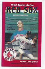 1998 Red Sox Ticket Guide with Pedro Martinez