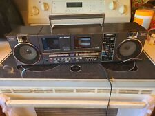 VINTAGE SHARP QT90 CASSETTE RADIO BOOMBOX Tested Works Great