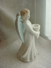 Roman Porcelain Angel Candle Holder 6 Inch Candlestick Pastel Colors