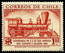CHILE,100th. ANNIV. 1st. RAILROAD COPIAPÓ - CALDERA 1851 - 1951, MNH