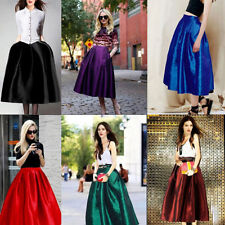 A-Line Formal Solid Skirts for Women