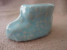 Blue Bootie Ceramic or Porcelain Shoe Um Vintage
