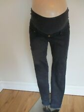 H&M MAMA MATERNITY INDIGO UNDER BUMP SKINNY JEGGINGS JEANS SIZE 12
