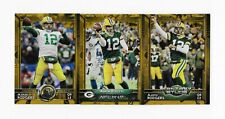 2015 Topps Aaron Rodgers 3 CARD GOLD LOT Green Bay Packers /2015