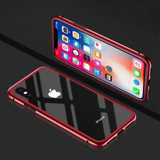 Metal Magnetic Adsorption Case Tempered Glass Cover For iPhone 6 6S 7 8  Plus
