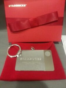 NIB Starbucks Sterling Silver Limited Edition Keychain Gift Card No Value