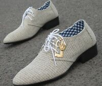 New Fashion Mens Casual lace up Oxford pointy toe dress formal business Shoes Sz