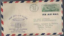 1933 Graf Zeppelin Cover Century of Progress Exposition Akron USA