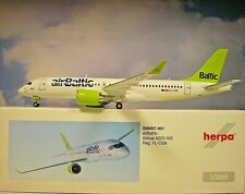 Herpa Wings 1:200  Airbus A220-300  Air Baltic  YL-CSB  558457-001