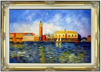 Framed Renoir The Doges Palace, Venice Repro, Hand Painted Oil Painting 24x36in