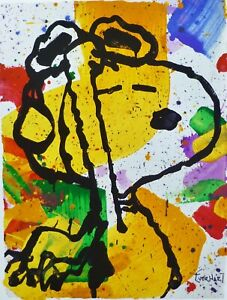 """Tom Everhart """"Salute"""" Snoopy Peanuts Lim.Ed.Collectible Lithograph plate signed"""