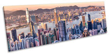 Victoria Harbour Hong Kong City CANVAS WALL ART Panorama Framed Print