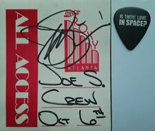 Joe Satriani ☆ Guitar Pick & Autographed Crew Pass☆ IS THERE LOVE IN SPACE Atl