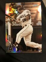 2020 Topps Chrome Mike Trout Sepia Refractor #1 Angels MVP