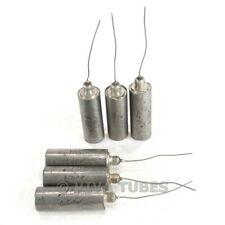 Vintage Lot of 6 Screw in Paper-In-Oil Capacitors 0.1uf 600 VDC