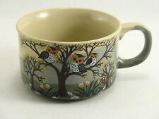 Vintage Ceramic Stoneware Owl and Tree Soup Mug