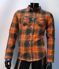 NORTH AMERICAN FLANNEL GRIZZLY GRIPTAPE ORANGE T SHIRT SMALL
