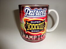 New England Patriots Super Bowl 38 Champions (2004) 11 oz Traditional Coffee Mug