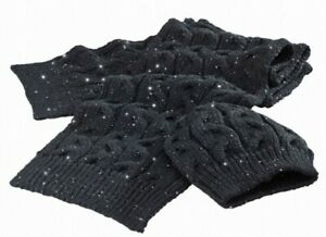 SMSCA15237 GENUINE TRIUMPH LADIES SEQUIN BLACK  HAT AND SCALF SET WITH GIFT BOX