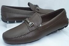 New Prada Men's Shoes Loafers Brown Drivers Size 10 Calzature Uomo Leather