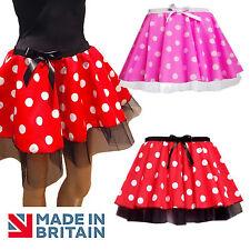 "Minnie Mouse Fancy Dress TUTU 12"" length SKIRT HALLOWEEN COSTUME"