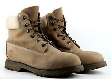 Timberland Womens UK 6.5 W/L Wide US 8.5 Beige Nubuck Leather Used Boots