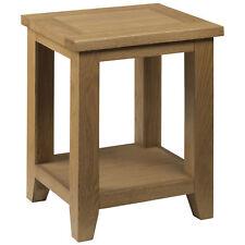 Solid Oak & Veneer End Lamp Small Side Coffee Table