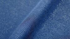 STRETCH SUITING FABRIC - GOLD LUREX PINSTRIPE - CROSSWISE GRAIN STRETCH - BLACK