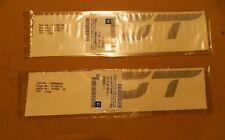 2x Emblem GT grau Kadett E Ascona C  ORIGINAL OPEL 172800