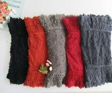 Wool and Polyester Lace Scarf (Dark Grey) (Price Reduced)